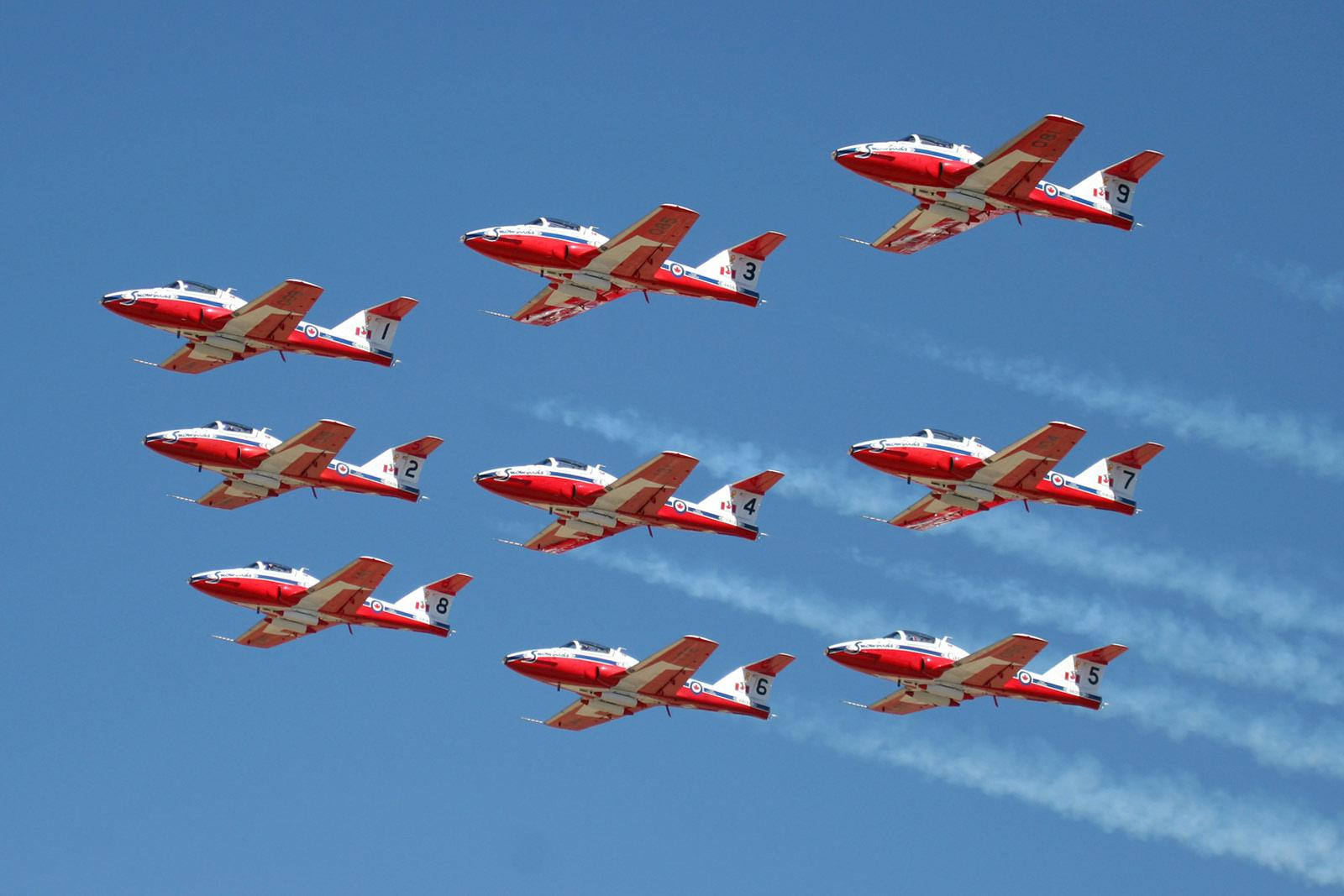 Snowbirds at Edmonton Airshow